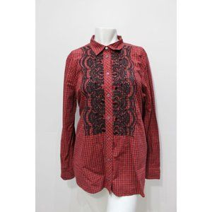 J CREW Boy shirt Embellished plaid Size 12 H3505